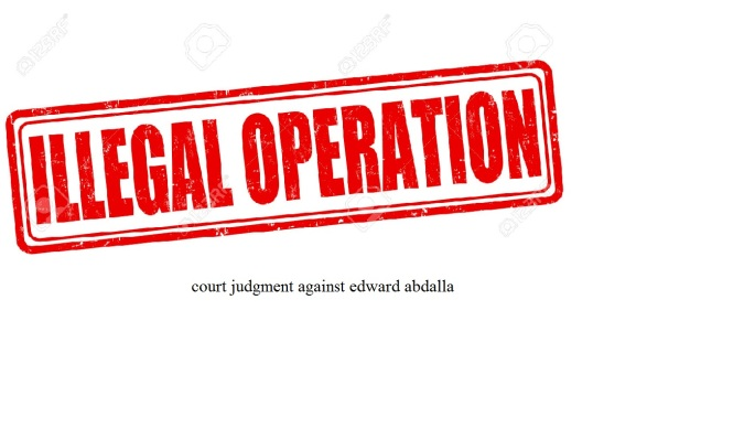 court judgment against edward abdalla